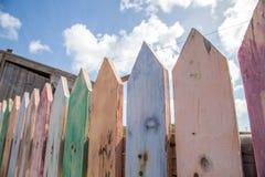 Valla de estacas de Colorfull Imagenes de archivo