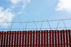 Valla de seguridad Imagen de archivo libre de regalías