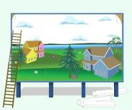 Valla publicitaria del anuncio ilustración del vector