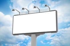 Valla publicitaria vacía del anuncio Imagen de archivo libre de regalías