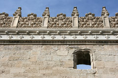 Valladolid. Decorative plateresque wall of Colegio de San Gregorio - museum in Valladolid, Spain Stock Photos