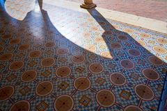 Valladolid arcade flooring detail of Yucatan. Valladolid city arcade flooring detail of Yucatan in Mexico Stock Photography