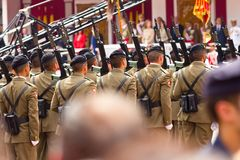 Valladolid Armed Forces Day 08 Royalty Free Stock Photography
