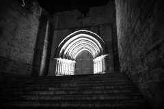 Valladolid in black and white. Valladolid, historical and cultural city, Spain Stock Photo
