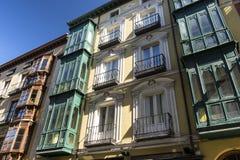Valladolid Castiglia y Leon, Spagna: costruzioni Immagine Stock Libera da Diritti