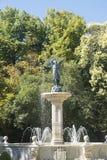 Valladolid Castilla y Leon, Spain: Campo Grande park. Valladolid Castilla y Leon, Spain: park of Campo Grande: fountain royalty free stock photo