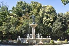 Valladolid Castilla y Leon, Spain: Campo Grande park. Valladolid Castilla y Leon, Spain: park of Campo Grande: fountain royalty free stock image
