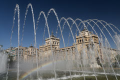 Valladolid Castilla y Leon, Spain: fountain Royalty Free Stock Images