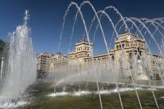 Valladolid Castilla y Leon, Spain: fountain Royalty Free Stock Photo
