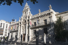 Valladolid Castilla y Leon, Spain: University. Valladolid Castilla y Leon, Spain: facade of the historic University stock images