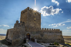 Valladolid, Castle Tiedra Stock Photo