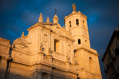 Valladolid Cathedral facade, Spain Royalty Free Stock Image