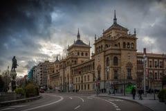 Valladolid. Cavalry Academy building on Zorilla square in Valladolid Royalty Free Stock Image