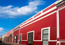 Valladolid city of Yucatan Mexico. Valladolid city colorful facades Yucatan in Mexico Royalty Free Stock Photos