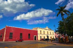 Valladolid city of Yucatan Mexico. Valladolid city colorful facades Yucatan in Mexico Stock Photography