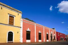 Valladolid city of Yucatan Mexico. Valladolid city colorful facades Yucatan in Mexico Stock Photo