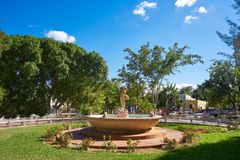 Valladolid city of Yucatan Mexico. Valladolid city park fountain of Yucatan in Mexico Royalty Free Stock Image