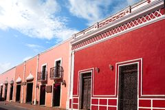 Valladolid city of Yucatan Mexico. Valladolid city colorful facades Yucatan in Mexico Royalty Free Stock Images