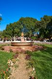 Valladolid city of Yucatan Mexico. Valladolid city park fountain of Yucatan in Mexico Royalty Free Stock Photography
