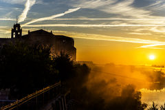 Valladolid, dawn Royalty Free Stock Image
