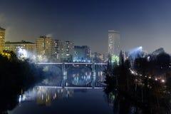 Valladolid in de nacht Royalty-vrije Stock Afbeeldingen