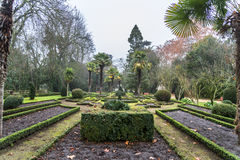 Valladolid fog. Historical romantic garden I centre of Valladolid Stock Photography