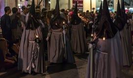 Valladolid Goede Vrijdag Nacht 2014 12 Royalty-vrije Stock Fotografie