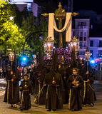 Valladolid Good Thursday Night 2014 03 Royalty Free Stock Photo