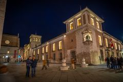 City with monuments of the center of Spain. Valladolid historical and cultural city in Spain royalty free stock photos