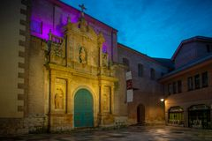 City with monuments of the center of Spain. Valladolid historical and cultural city in Spain stock images