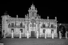 Valladolid in black and white. Valladolid, historical and cultural city, Spain Royalty Free Stock Photos