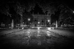 Valladolid in black and white. Valladolid, historical and cultural city, Spain Royalty Free Stock Photo