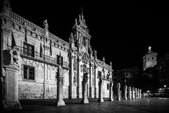 Valladolid in black and white. Valladolid, historical and cultural city, Spain Royalty Free Stock Photography