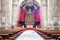 Valladolid katedry wnętrze fotografia royalty free