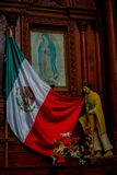 VALLADOLID, MÉXICO - 12 DE NOVEMBRO DE 2017: Vista interior da igreja de Saint Servatius de San Servacio em Valladolid, Iucatão Foto de Stock