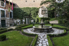 Valladolid, he marries of Cervantes. Housings where I reside the writer Michael of Cervantes Stock Image