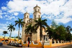 Valladolid, Messico Cathedral de San Servasio fotografia stock libera da diritti