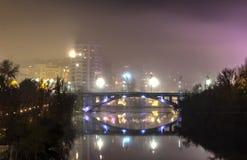 Valladolid nella notte Fotografia Stock