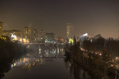 Valladolid in the night Stock Photography