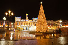Valladolid ornated for Christmas Stock Photos