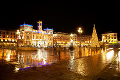 Valladolid ornated for Christmas Royalty Free Stock Image