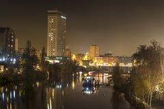 Valladolid pendant la nuit Photo stock