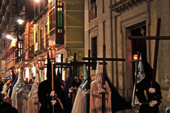 Valladolid procession in holy week traditional spanish Stock Images