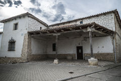 Valladolid, rural church porch. Church of stone of people of Valladolid, Spain Royalty Free Stock Photo