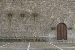 Valladolid, rural church porch. Church of stone of people of Valladolid, Spain Stock Photography