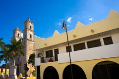 Valladolid San Gervasio church of Yucatan. In Mexico Royalty Free Stock Images