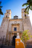 Valladolid San Gervasio church of Yucatan. In Mexico Royalty Free Stock Photo