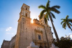 Valladolid San Gervasio church of Yucatan. In Mexico Stock Photography