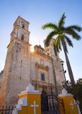 Valladolid San Gervasio church of Yucatan Royalty Free Stock Photos