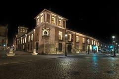 Valladolid slott i natten Royaltyfri Foto
